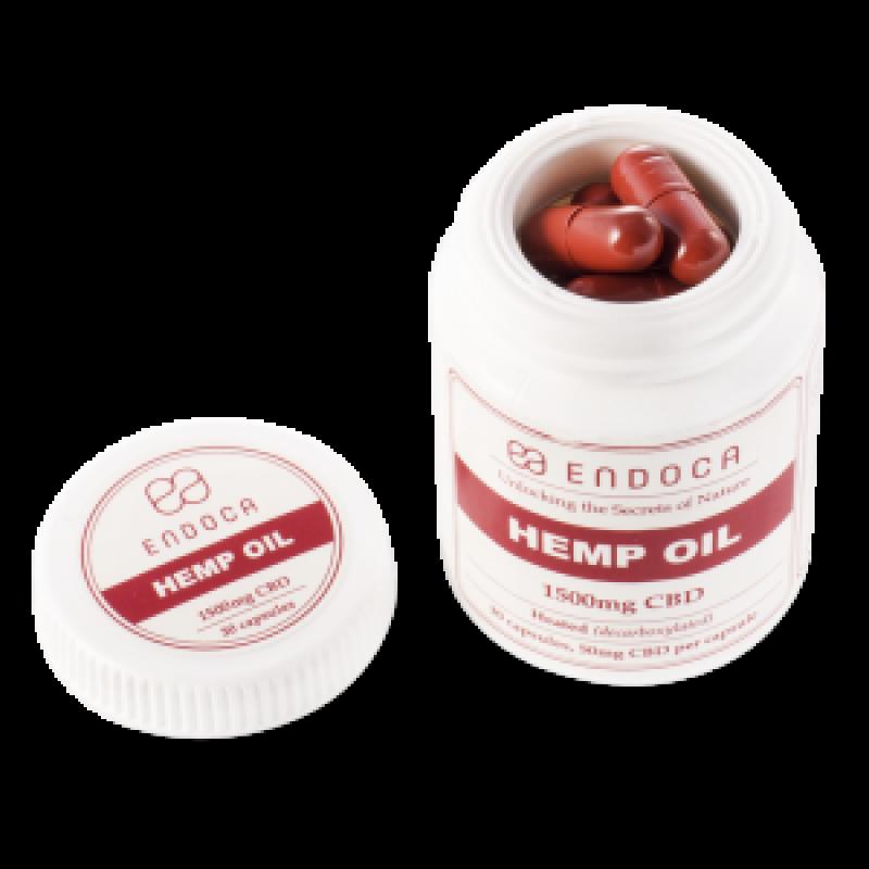 Endoca CBD Hemp Oil Capsules DC 1500 mg.