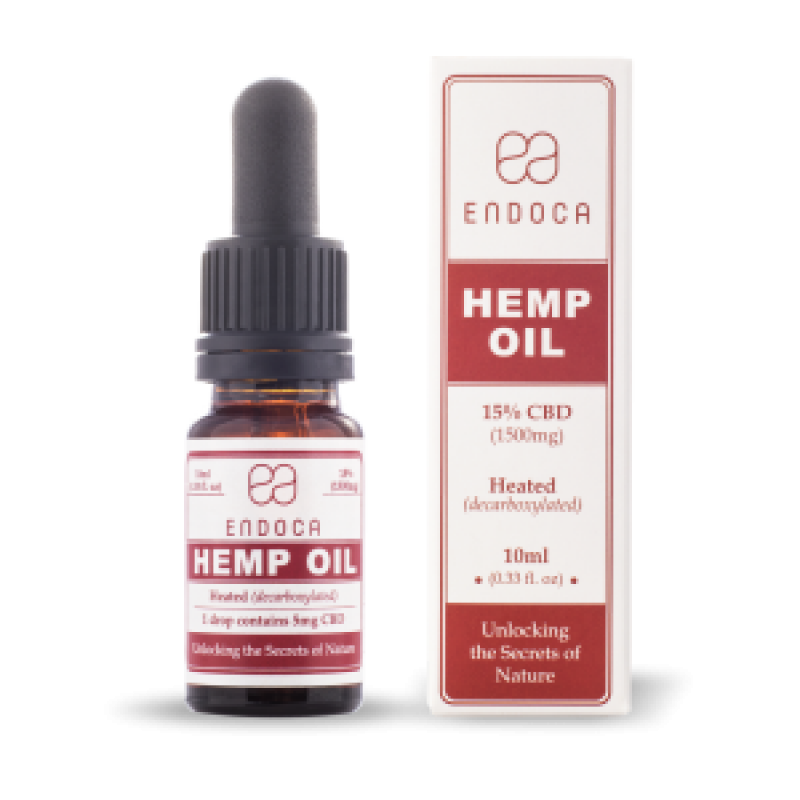 Endoca CBD Hemp Oil Drops 1500 mg. (15%) - 10 ml.