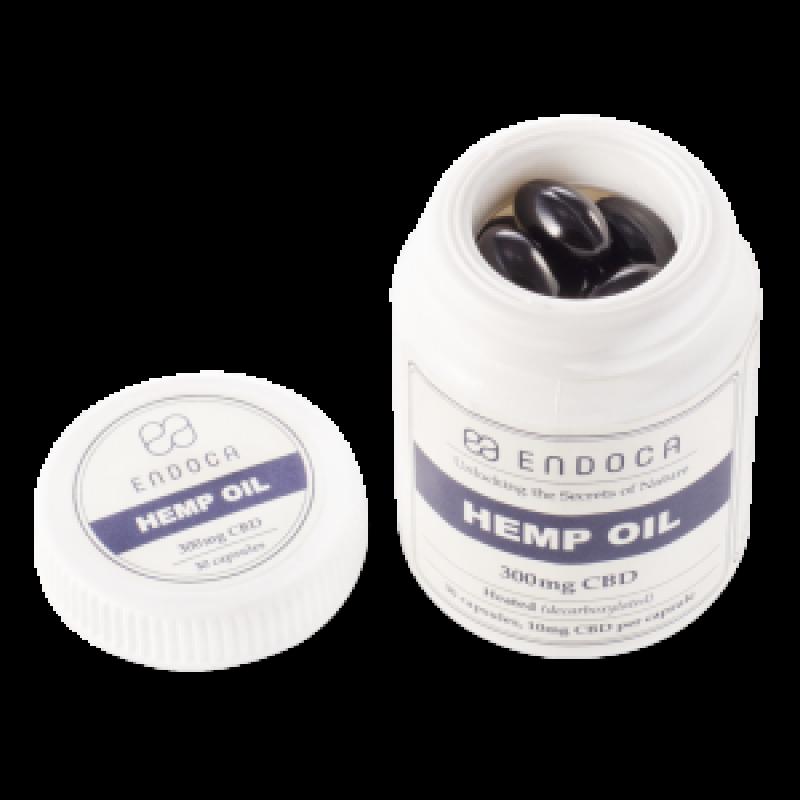 Endoca CBD Hemp Oil Capsules DC 300 mg.