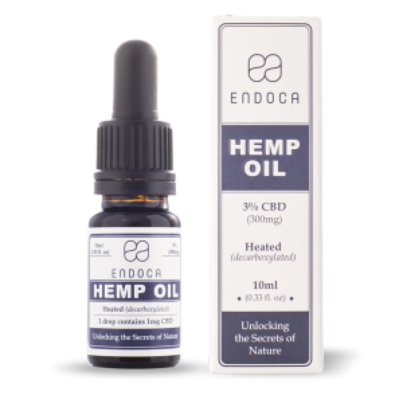 Endoca CBD Hemp Oil Drops 300 mg. (3%) - 10 ml.